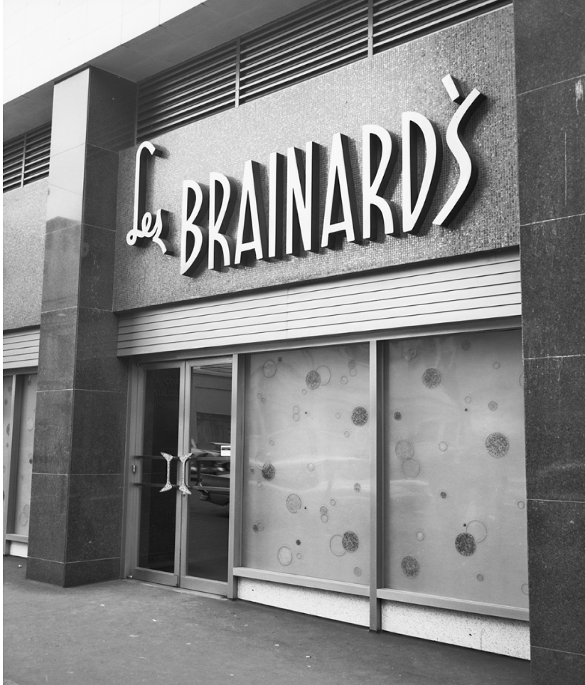 Les Brainard's was located on 1120 2nd Ave which today is, you can probably guess - an apartment complex. (Seattle Municipal Archives / flickr)