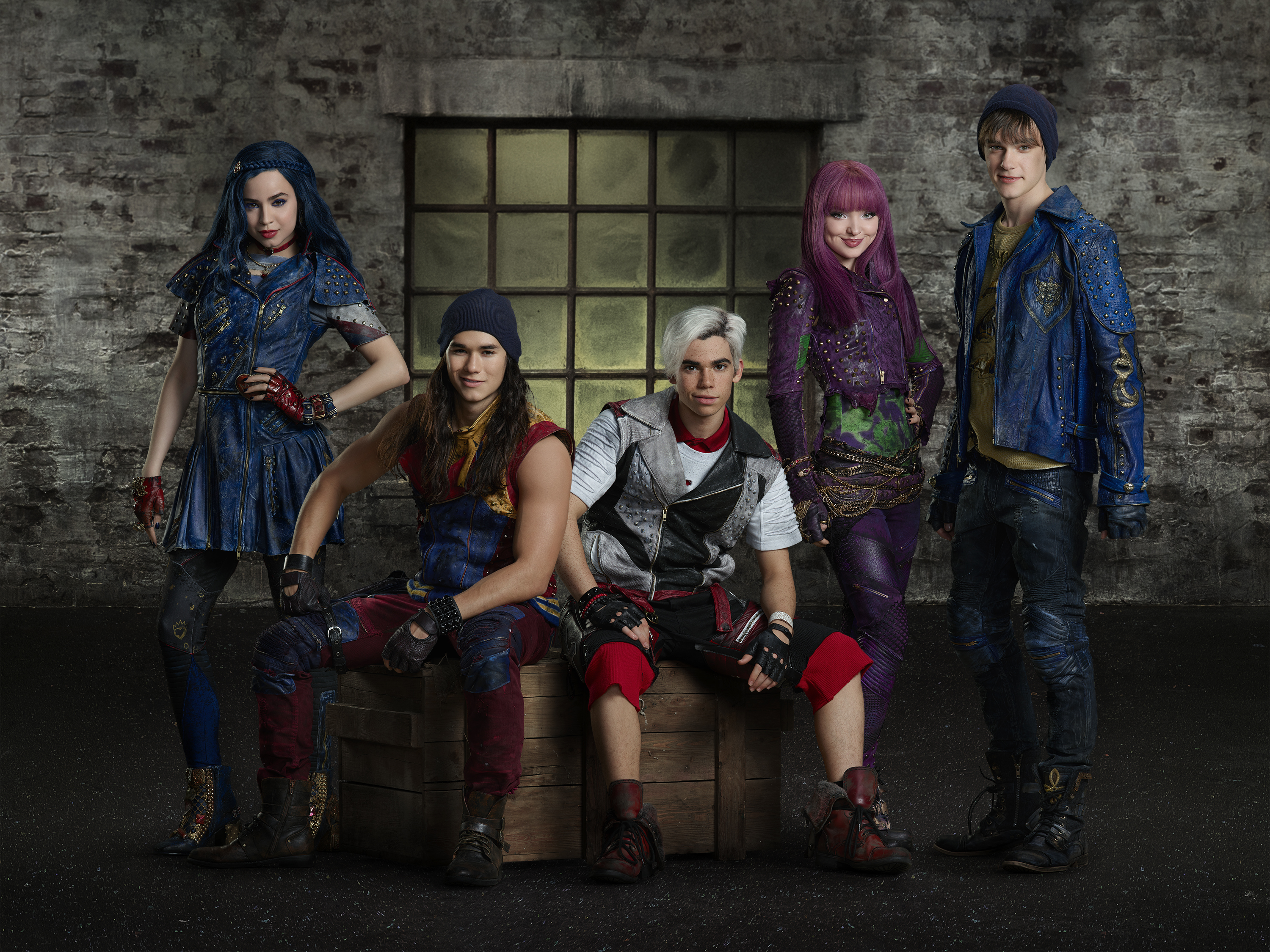 Descendants 2 is the highly anticipated sequel to Disney's Descendants which will continue to tell the imaginative story about the teenage sons and daughters of Disney's most infamous villains. Premiering in the UK in Autumn 2017 on Disney Channel and DisneyLife, Descendants 2 is set to be another tween phenomenon as the villain kids embark on another action-adventure filled with catchy song and dance numbers.   The first Disney Descendants was a global success and is the no.1 Disney Channel Original Movie ever among girls in the UK. The music from the movie has been extremely popular with tween fans, with the lead song 'Rotten to the Core' generating more than 220 million YouTube views.  Featuring: Sofia Carson, Booboo Stewart, Cameron Boyce, Dove Cameron, Mitchell Hope Where: Vancouver, Canada When: 04 May 2017 Credit: Disney (Supplied by WENN)  **EDITORIAL USE ONLY**