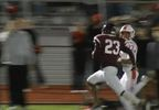 A Yukon player rushes into the endzone in the game against Edmond Memorial on Friday, November 2, 2018. Yukon would win the game 35-6 (Sam Gannon KOKH).JPG