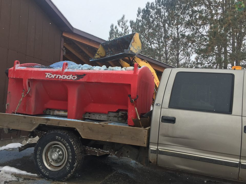 As mid-Michigan braces for Friday's winter storm, snow removal companies throughout the area are dealing with a salt shortage. (Photo Credit: Sarah Jaeger){&amp;nbsp;}<p></p>