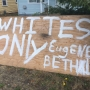 Racist sign causes concerns in West Eugene