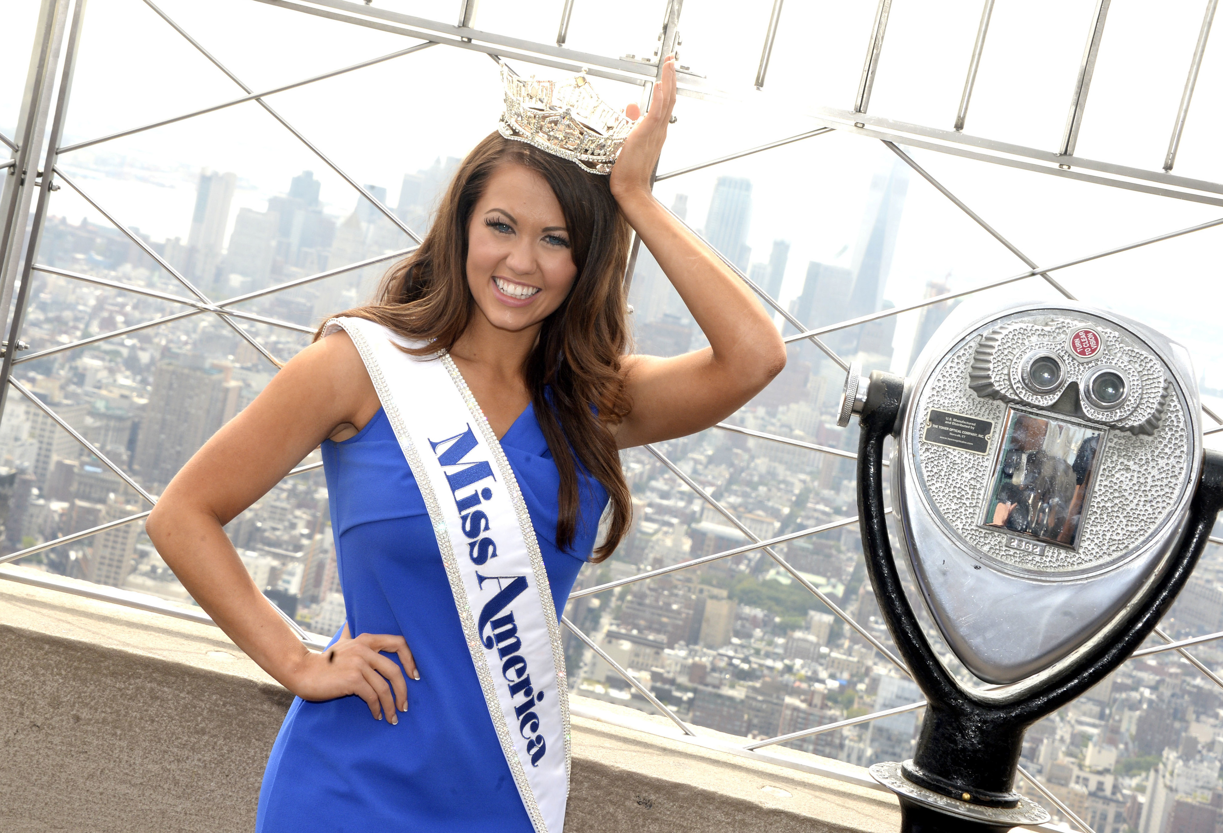 Miss America 2018 Cara Mund poses for photos at the Empire State Building. When: 12 Sep 2017 Credit: DyD Fotografos/Future Image/WENN.com