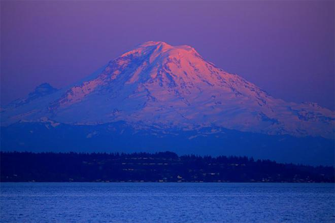 Rainier from Puget Sound on a sail to Blake Island. (Photo: Charles Burgess)