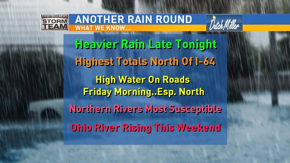More Rain Could Mean More High Water Tonight/Friday