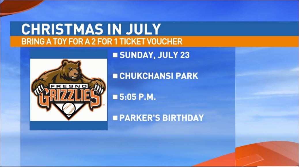 Sunday, July 23rd is also Parker's Birthday at the Grizzlies