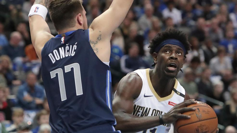 doncic helps mavs top pelicans 122 119 to end 6 game skid keye