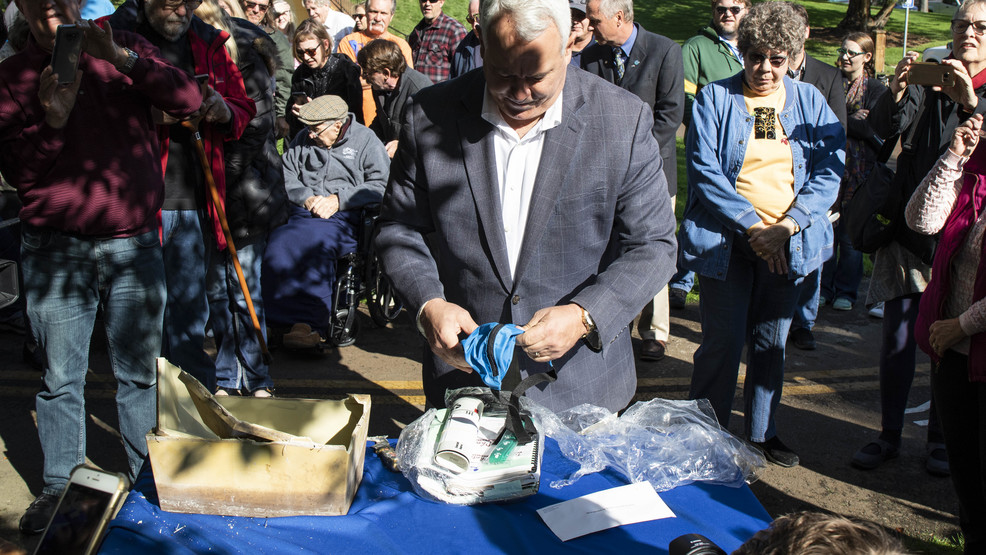 Photos: Time capsule opened for Greenbelt 50 year anniversary
