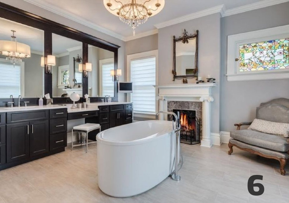 #6 - I've always wanted a tub in the middle of my bathroom. No, seriously. This home (located at 975 Willow Ave. in Glendale) is a beaut. Take a look on the Arts & Design section for all the deets. / Image courtesy of Coldwell Banker West Shell