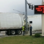 Semi hits pole in Hannibal causing traffic congestion