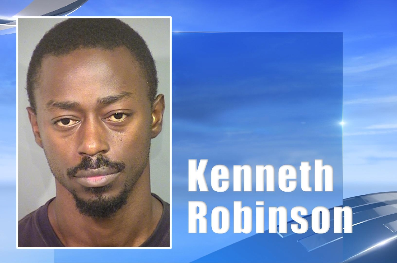 Kenneth Robinson is accused of beating 7-year-old Richard Findley Jr. to death Sunday, October 30, 2016. (LVMPD/KSNV)