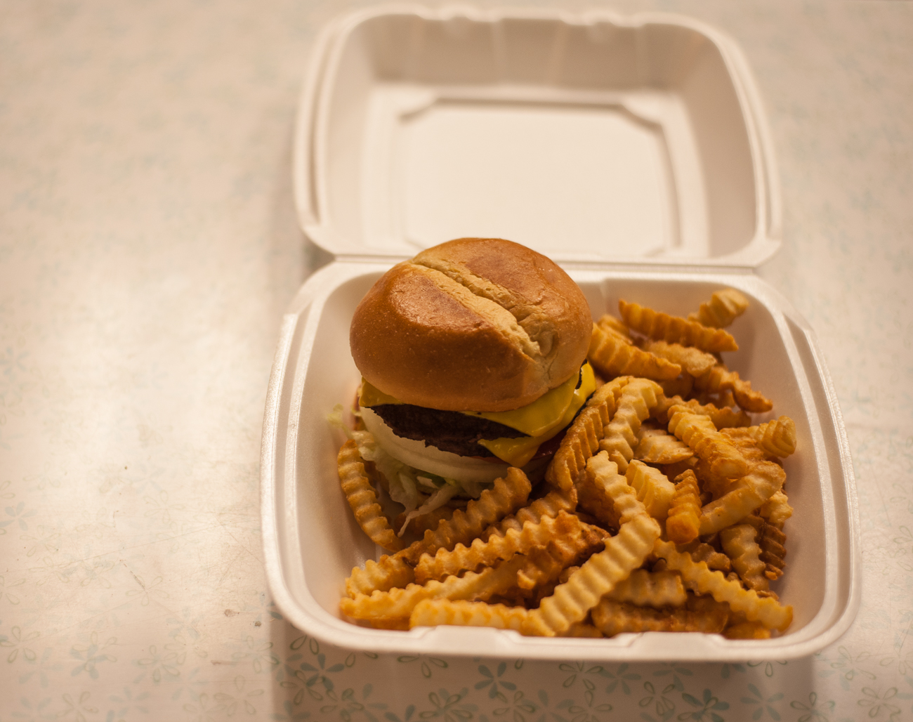 Double cheese burger & fries / Image: Kellie Coleman // Published: 4.8.20