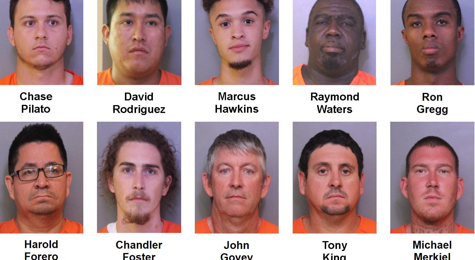 A week long investigation resulted in the arrest of 277 suspects involved in human trafficking and online prostitution. (Polk County Sheriff's Office)<p></p>