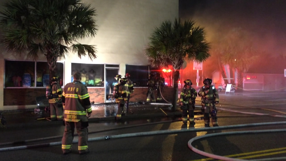 Myrtle Beach T Shirt Shop Fire