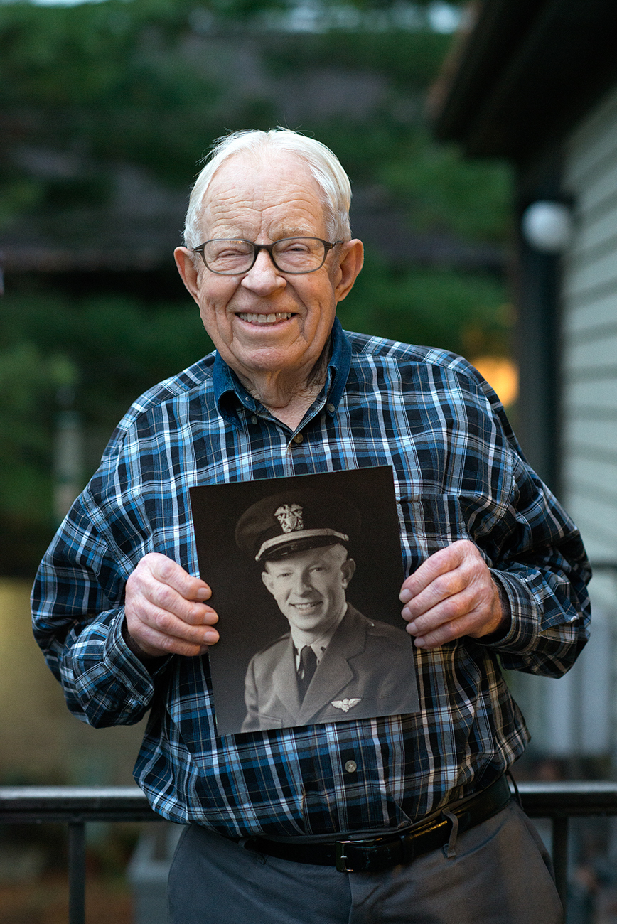 CARL BERTRAND / He enlisted in the Navy in 1942 and subsequently went on to fly sea planes performing reconnaissance on Japanese submarines. / Read more of his story at facebook.com/theygaveitall. / Image: Patrick McCue // Published: 1.29.17