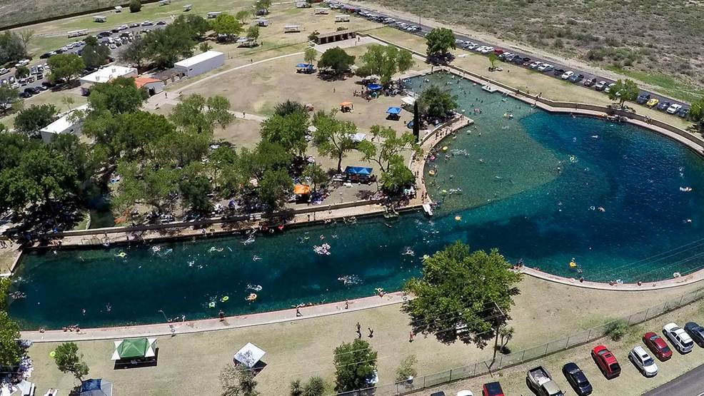 West Texas: world's largest spring-fed swimming pool reopens