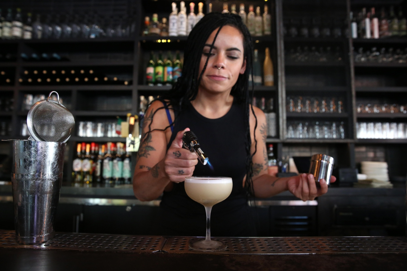 Megan Barnes admits she's pretty busy as Espita's beverage director, but she takes her ineffable coolness to Lyman's Tavern at the edge of Columbia Heights when she's not making us fall in love with mezcal. (Amanda Andrade-Rhoades/DC Refined)