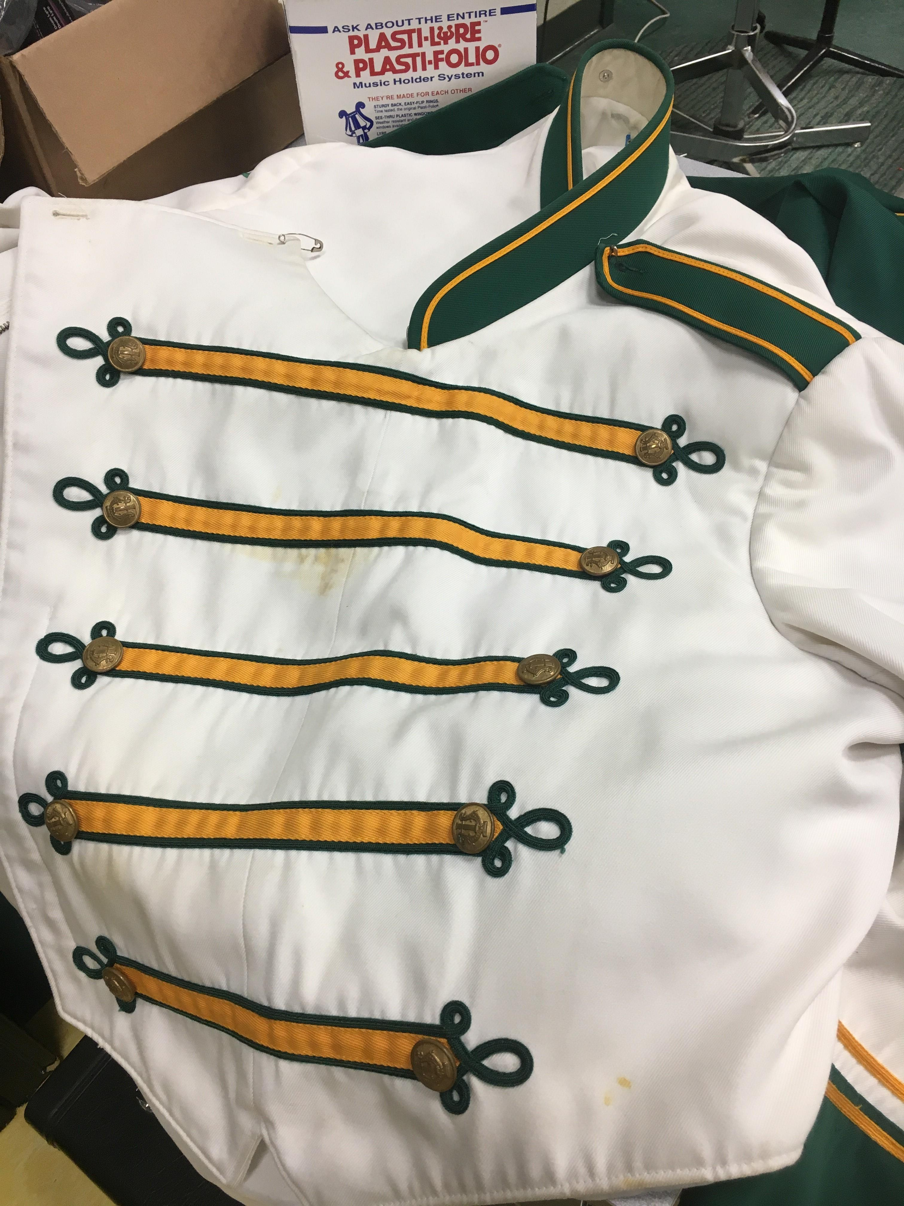 Conway High School band uniforms are 25 years old.  Students are raising money to replace them. (Amanda Kinseth/WPDE)
