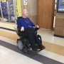 Students helping beloved substitute teacher get brand new wheelchair