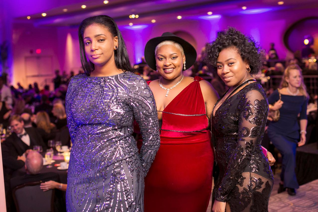 Natalie Washington, Jaya Pickens, and Peachy Jackson at the 2018 Cincinnati Opera Gala held at the Netherland Plaza on Nov. 16, 2018 / Image: Mike Bresnen Photography // Published: 11.30.18