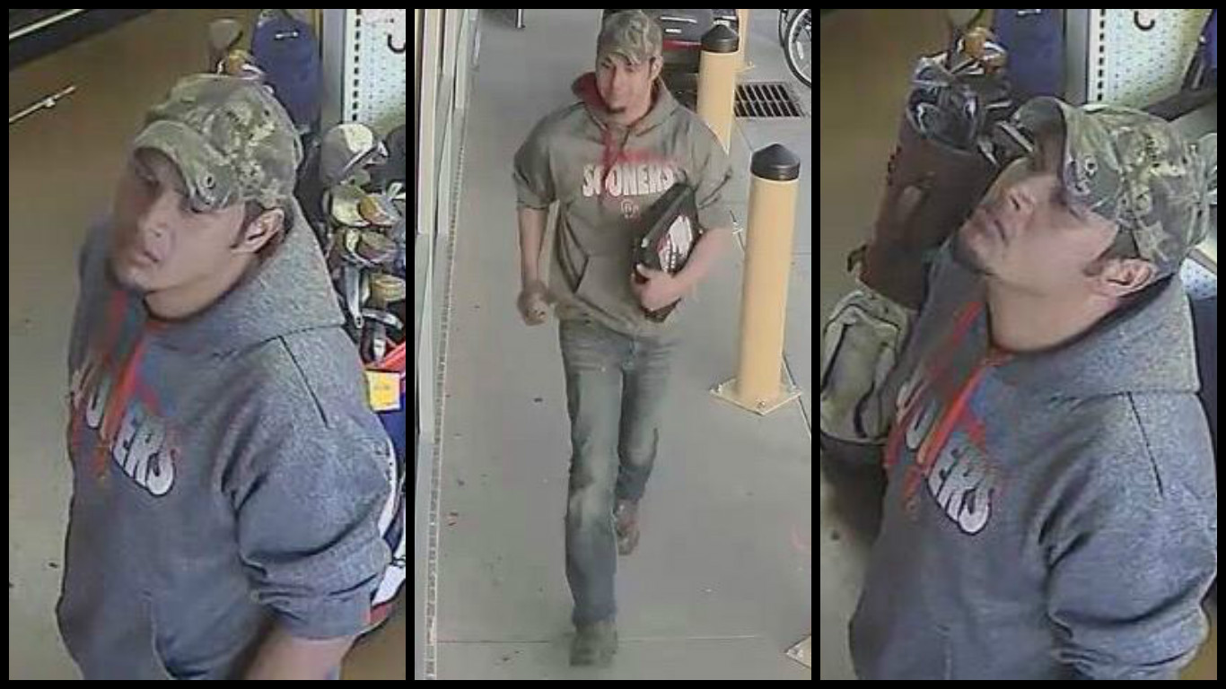 Police hope to identify a man that on Jan. 19 stole a socket set from Neighborhood Pawn. (Oklahoma City Police Department)