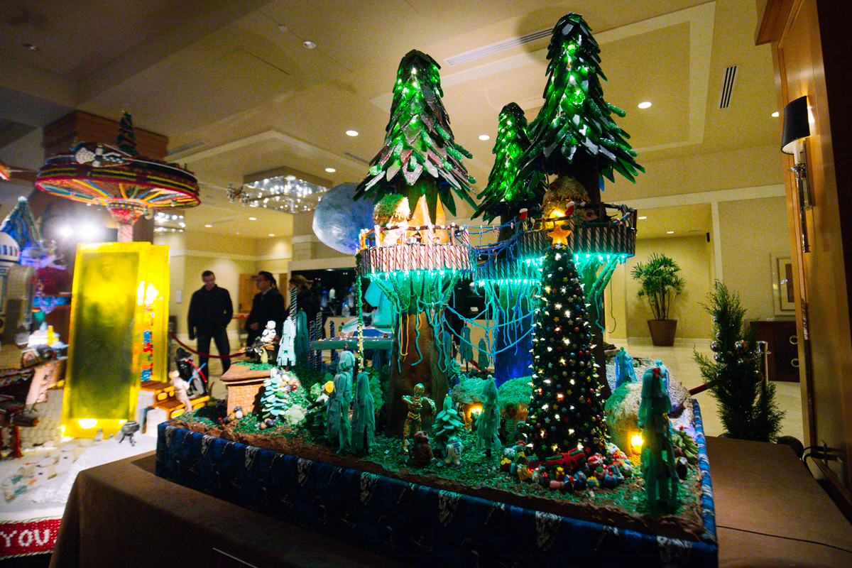 The 23rd Annual Gingerbread Village at the Sheraton Hotel in downtown Seattle brings the world of