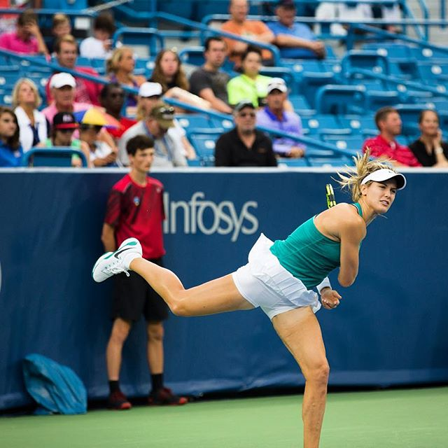 IMAGE: IG user @cincytennis / POST: Qualifying --> Main Draw #cincytennis #tennis #WTA #geniebouchard #bouchard #cincyusa