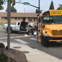 Pickup driver in critical condition; students avoid serious injuries following bus crash
