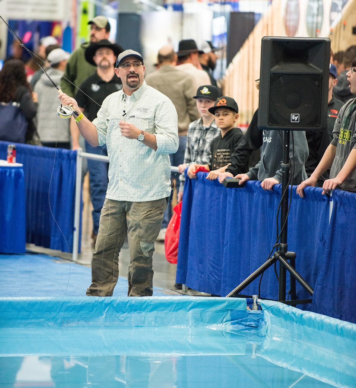 Outdoor enthusiasts filled the Portland Expo Center for the 43rd Annual Pacific Northwest Sportsmen's Show, featuring four days filled with hundreds of activities, exhibitors, vendors and demonstrations for the whole family. (KATU photo by Tristan Fortsch on February 10, 2018)