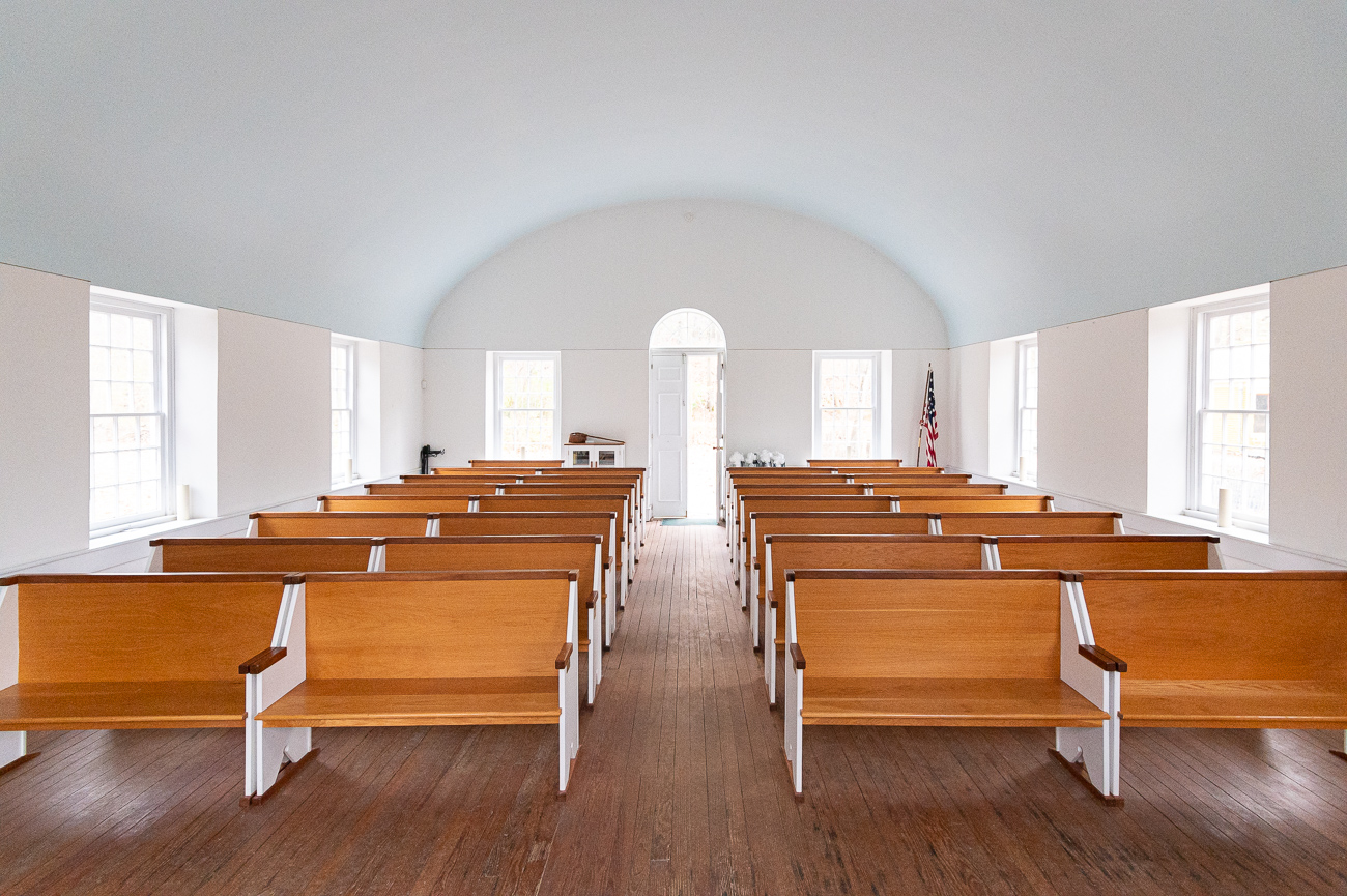 The church has been restored to look like it did in 1829.{ }/ Image: Phil Armstrong, Cincinnati Refined // Published: 12.5.19