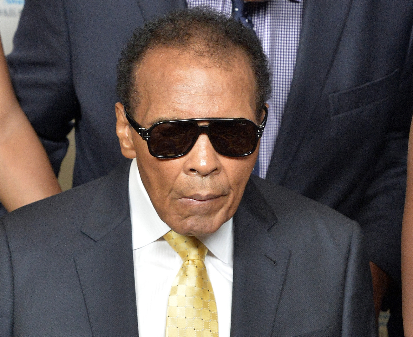 FILE - In this Sept. 27, 2014, file photo, Muhammad Ali is shown before the Ali Humanitarian Awards ceremony in Louisville, Ky. A spokesman for boxing great Muhammad Ali says the former heavyweight champion is being treated in a hospital for a respiratory issue. Spokesman Bob Gunnell said Thursday, June 2, 2016, that Ali is being treated by doctors as a precaution.  (AP Photo/Timothy D. Easley, File)