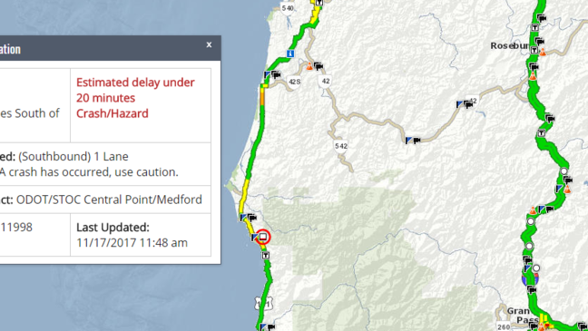 Hwy 101 blocked by RV crash; injuries reported