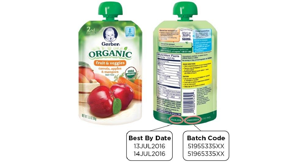 Baby Food Pouch Recall