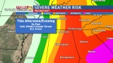 Tracking storms moving through the area Wednesday evening