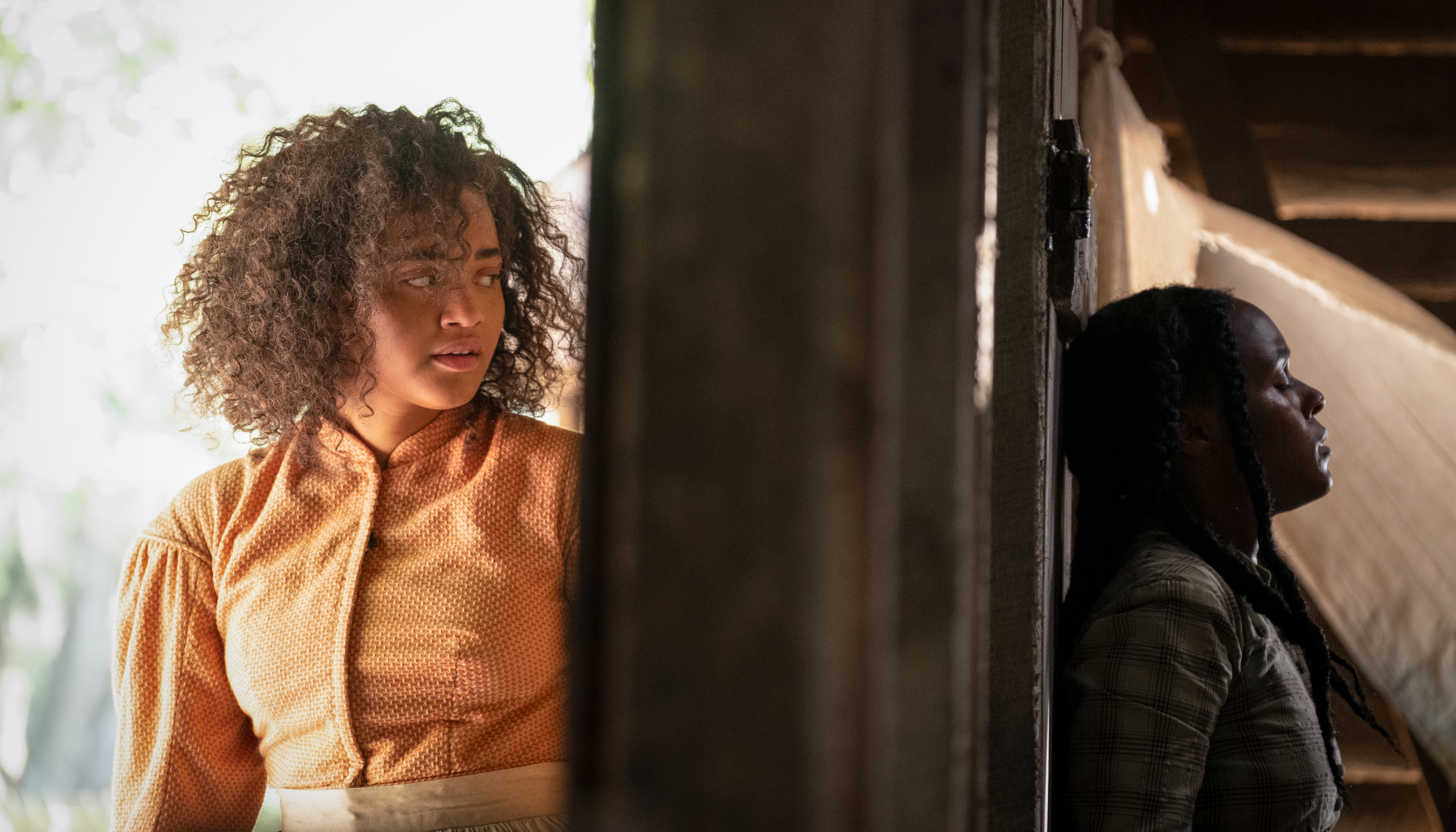 Kiersey Clemons (left) and Janelle Monae (right) in ANTEBELLUM{ }(Image: Lionsgate)