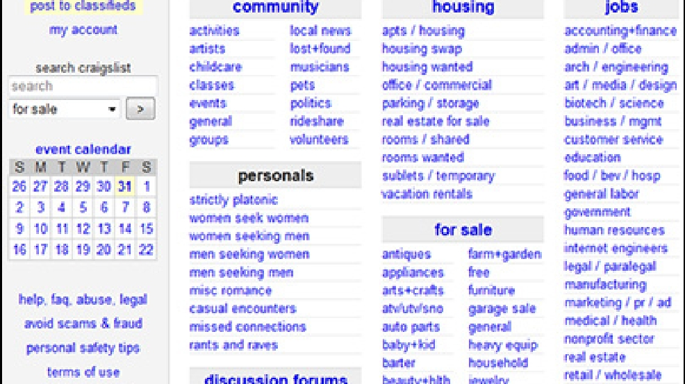 Craigslist dating scams