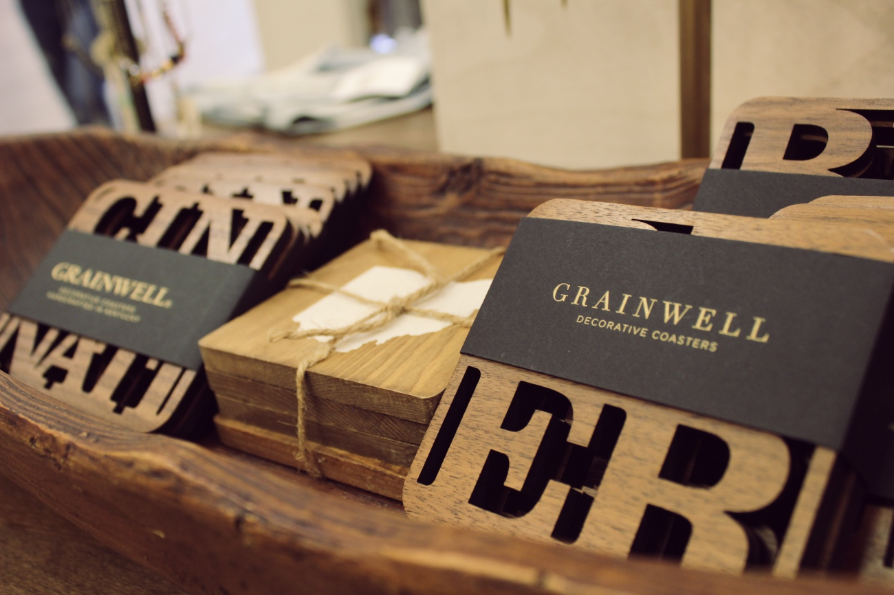 Decor from Grainwell, a local wood-crafting market from Covington / Image: Katie Robinson, Cincinnati Refined  // Published: 9.26.18