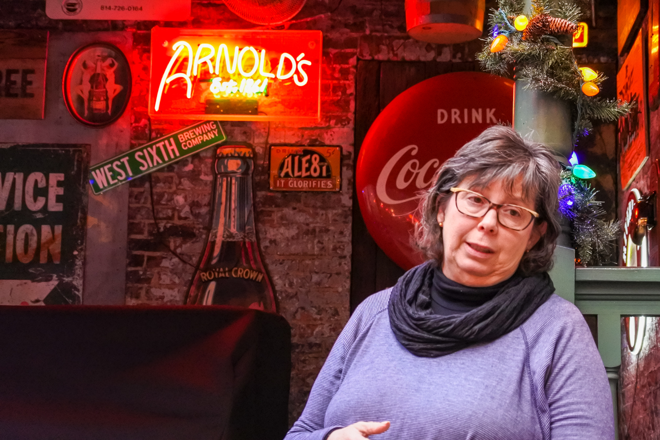 Rhonda Breeden, owner of Arnold's Bar & Grille / Image: Phil Armstrong, Cincinnati Refined // Published: 1.3.17