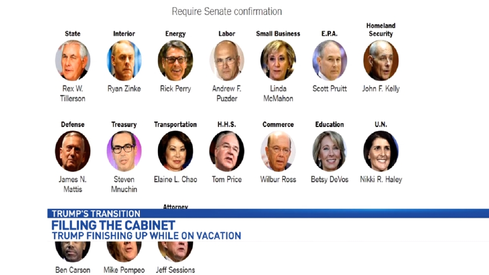 Donald Trump making final selections for his Cabinet | WPEC