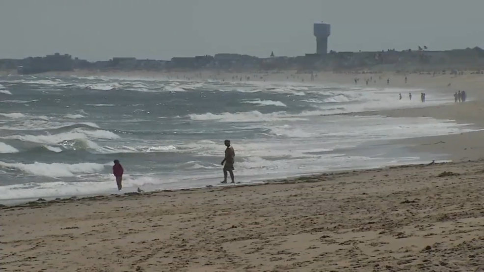 large rip current kills two four others rescued wgme