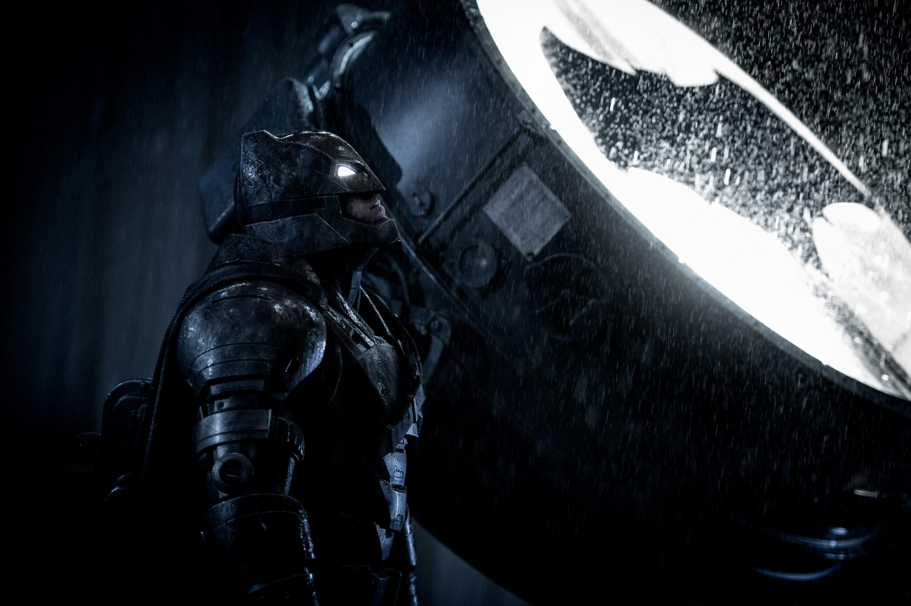 "Caption: BEN AFFLECK as Batman in Warner Bros. Pictures' action adventure ""BATMAN v SUPERMAN: DAWN OF JUSTICE,"" a Warner Bros. Pictures release.  Copyright: © 2016 WARNER BROS. ENTERTAINMENT INC., RATPAC-DUNE ENTERTAINMENT LLC AND RATPAC ENTERTAINMENT, LLC  Photo Credit: Clay Enos/ TM & © DC Comics  Caption: BEN AFFLECK as Batman in Warner Bros. Pictures' action adventure ""BATMAN v SUPERMAN: DAWN OF JUSTICE,"" a Warner Bros. Pictures release."