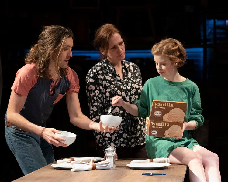 Sam Saint Ours as Nate, Catherine Eaton as May and Megan Graves as Amy in &quot;Oil&quot; at Olney Theatre Center. (Image: Teresa Castracane Photography)<p></p>