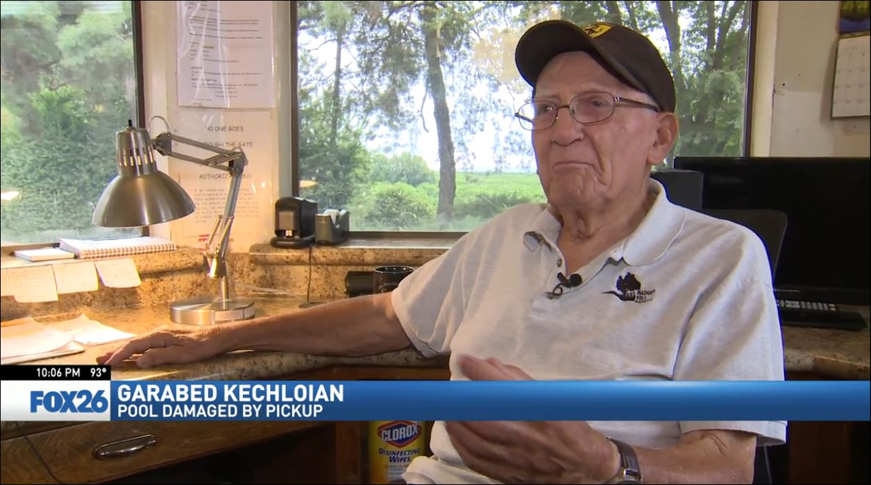 Kechloian said, 'People in the pool, but cars? I didn't even know if anyone ever had that happen to them'