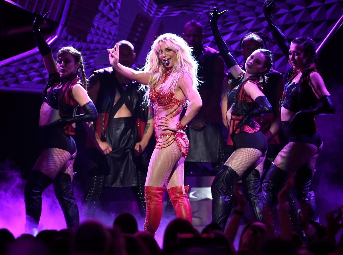 "FILE - In this May 22, 2016 file photo, Britney Spears performs at the Billboard Music Awards at the T-Mobile Arena, in Las Vegas. Spears will return to the MTV Video Music Awards stage to perform her new single, ""Make Me...,"" at the Aug. 28 show at Madison Square Garden in New York. She last performed at the 2007 VMAs. (Photo by Chris Pizzello/Invision/AP, File)"