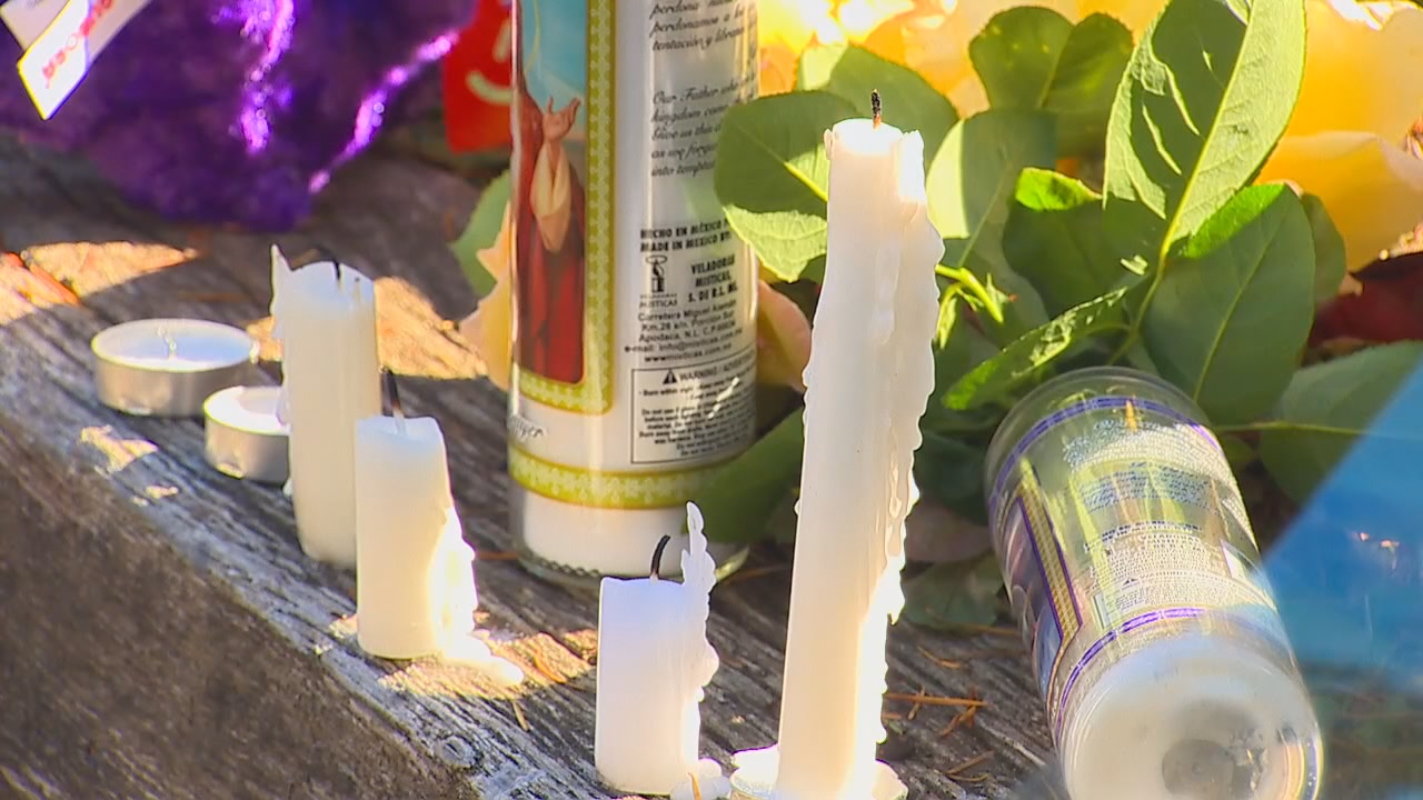 A memorial grows outside the home where two adults and two children were killed in a{&amp;nbsp;} fire near Port Orchard on Saturday, Oct. 14, 2017. (Photo: KOMO News)<p></p>