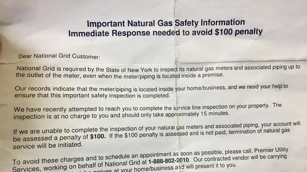 National Grid customers receiving notices of possible fines