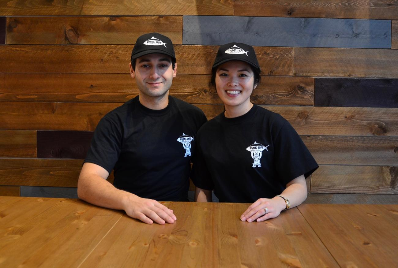 Baret Kilbacak and Sally Lin are also two of the three partners who own Poke Hut. / Image: Leah Zipperstein, Cincinnati Refined // Published: 1.7.18