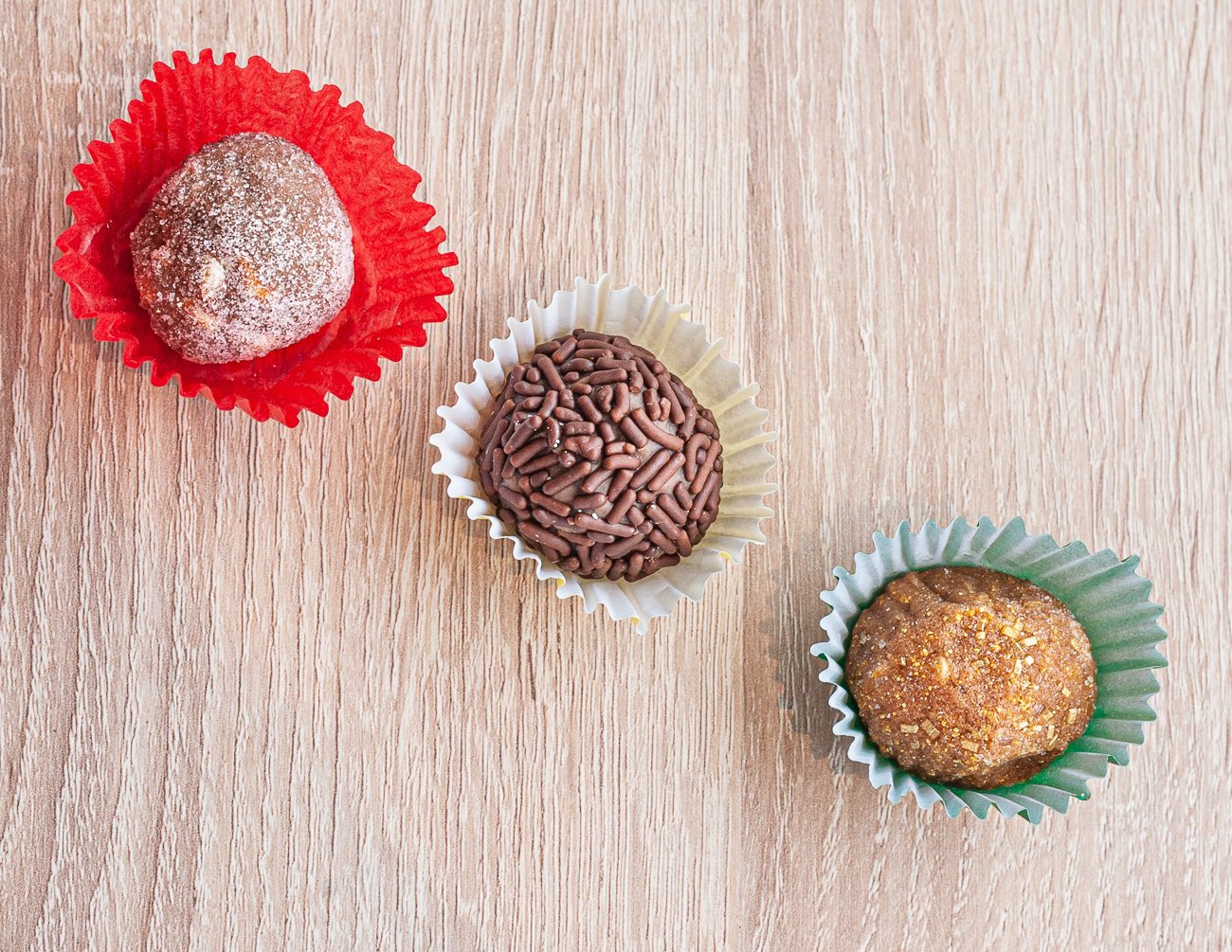 Three Brigadier Brazilian Truffles{ }/ Image: Kellie Coleman // Published: 3.6.21