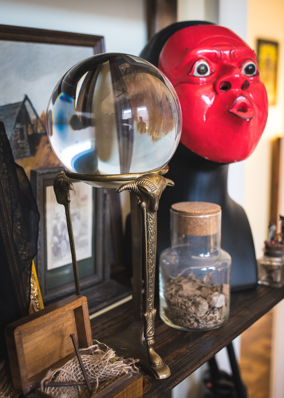 "#8 - ""The Gazing Glass,"" an ominous crystal ball owned by a mystic in the 1970s that caused poltergeist-like activity in a man's home when he tried peering into it years later. Read more about The Gazing Glass in the story. / Image: Phil Armstrong, Cincinnati Refined // Published: 10.20.17<p></p>"