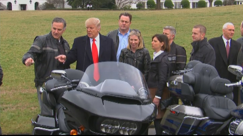 president trump meets with harley-davidson officials | wluk