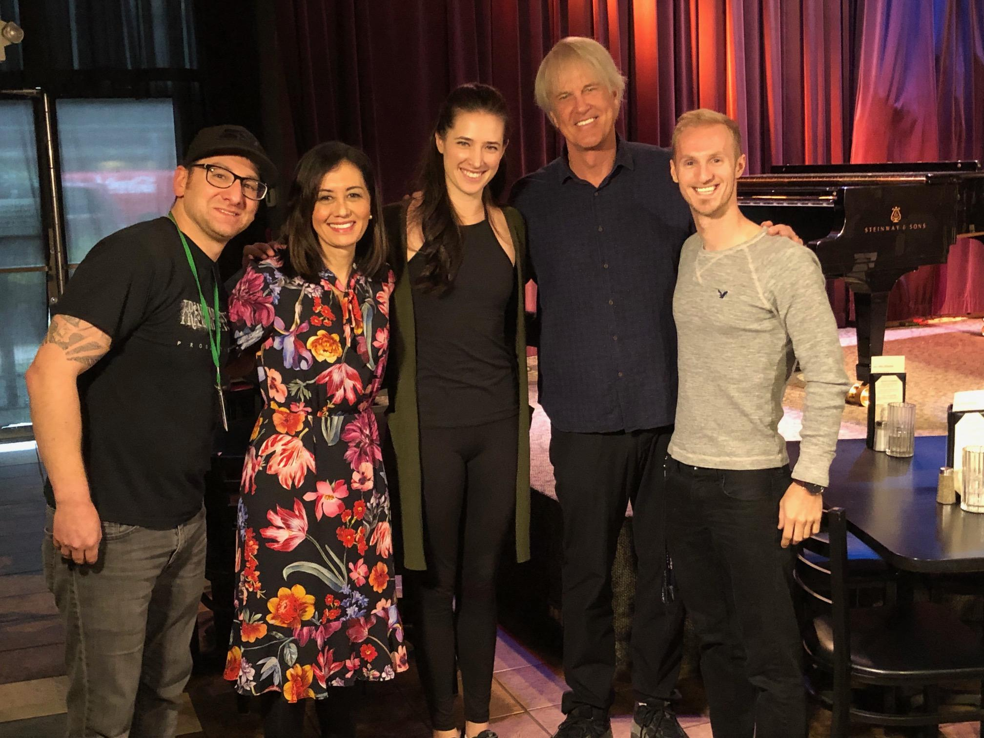 Seattle Refined's Ty Huffer, Malia Karlinsky and Kohlton Steinke with John Tesh and Prima Tesh. (Photo: Seattle Refined)